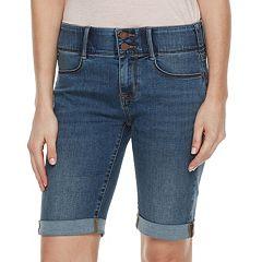 Women's Apt. 9® Tummy Control Bermuda Midrise Jean Shorts