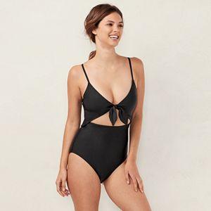 763c5ea38da Plus Size LC Lauren Conrad Lace-Trim One-Piece Swimsuit. Regular