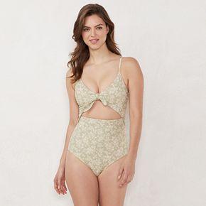 Women's LC Lauren Conrad Beach Shop Tie-Front One-Piece Swimsuit