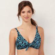 Women's LC Lauren Conrad Beach Shop Side Tie-Front Bikini Top