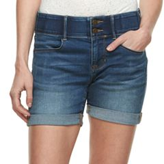 Women's Apt. 9® Tummy Control Cuffed Jean Shorts