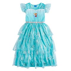 Disney's Frozen Elsa & Anna Girls 4-10 Dress-Up Nightgown