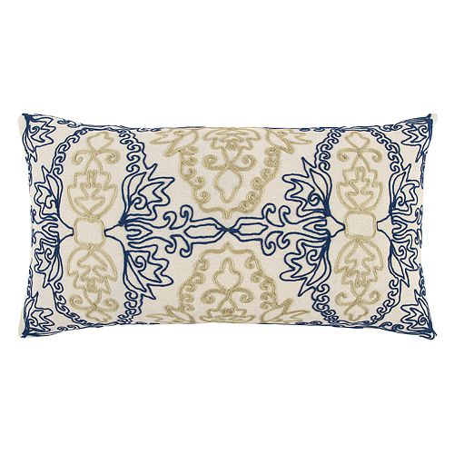 Rizzy Home Bold Medallion Oblong Throw Pillow