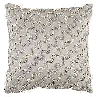 Rizzy Home Wavy Beaded Stripe Throw Pillow
