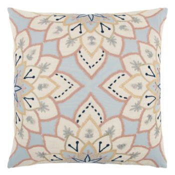 Rizzy Home Geometric Floral Throw Pillow