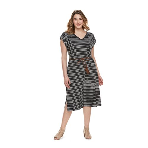 Plus Size SONOMA Goods for Life™ Stripe Midi Dress