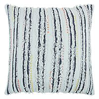 Rizzy Home Deconstructed Stripe Throw Pillow