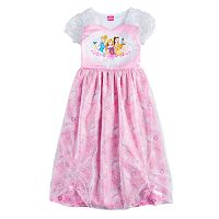 Disney's Cinderella, Rapunzel & Belle Girls 4-8 Princess Dress-Up Nightgown