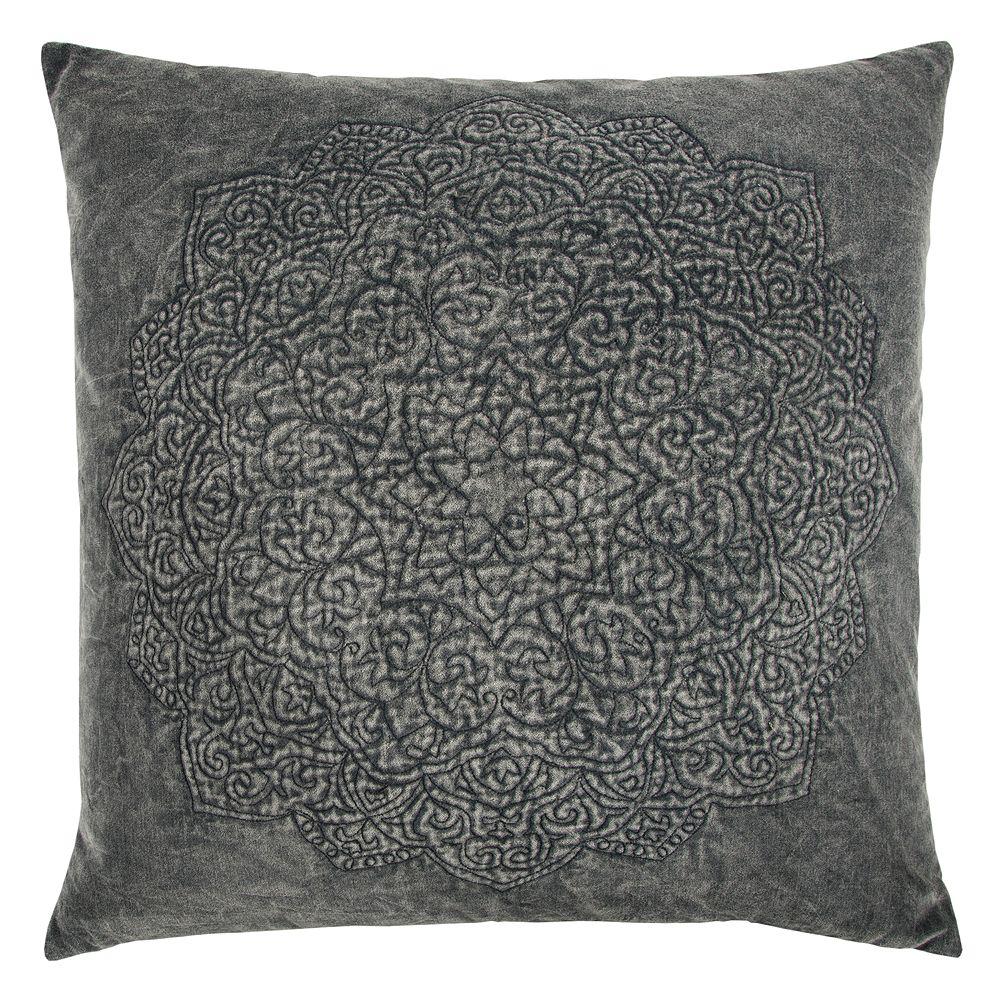 Rizzy Home Subtle Medallion Throw Pillow