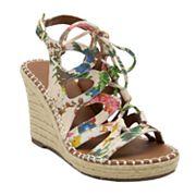 sugar Hula Women's Ghillie Espadrille Wedge Sandals