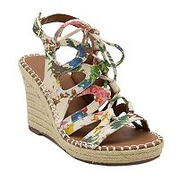 sugar Hula Women's Ghillie Espadrille Wedge Sandals