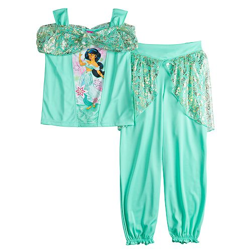 Disney's Jasmine Girls 4-8 Top & Bottoms Dress-Up Pajama Set