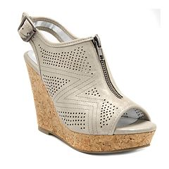 Rampage Chamomile Women's Peep Toe Wedge Sandals