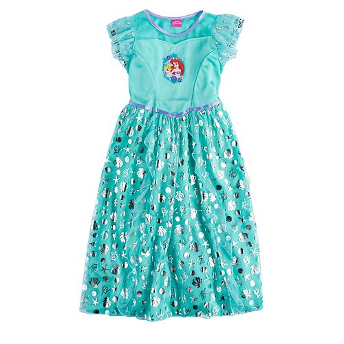 a063aa28e2 Disney s Ariel   Flounder Girls 4-8 Dress-Up Nightgown