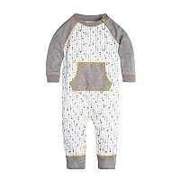 Baby Boy Burt's Bees Baby Mini Arrows Organic Coverall