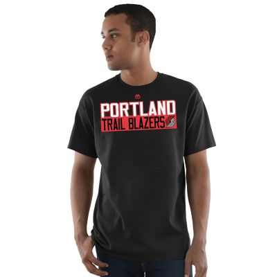 Men's Majestic Portland Trail Blazers Damian Lillard Name and Number Tee
