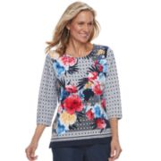 Petite Alfred Dunner Studio Abstract Floral Top