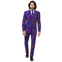 Men's OppoSuits Slim-Fit Doodle Dude Suit & Tie Set