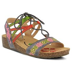 L'Artiste By Spring Step Loma Women's Ghillie Sandals