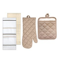 The Big One® Solid Kitchen Towel, Pot Holder & Oven Mitt Set