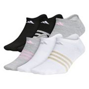 Girls 4-16 adidas climalite superlite 6 pkNo-Show Lurex Socks