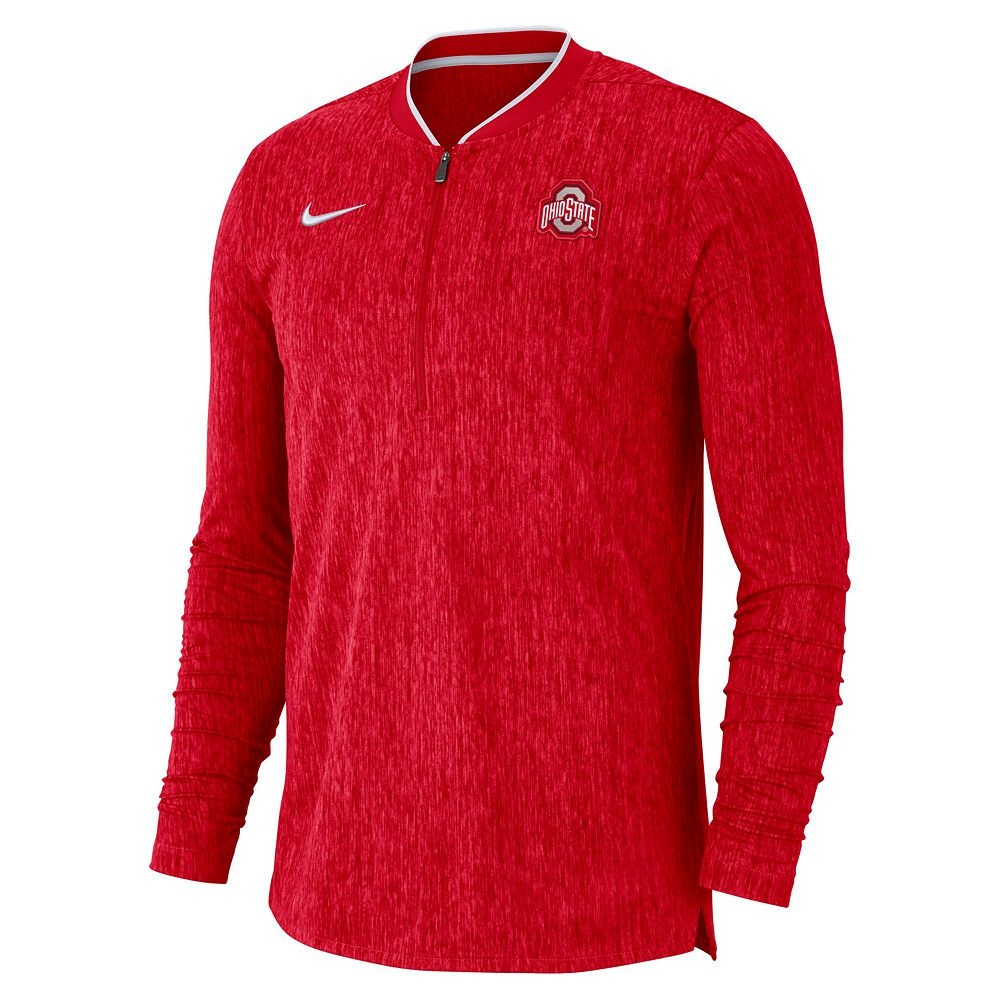 Men's Nike Ohio State Buckeyes Coach 1/2-Zip Pullover Top