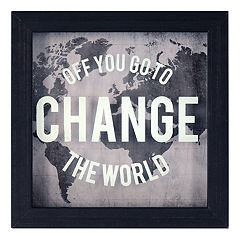 New View 'Change the World' Framed Wall Art
