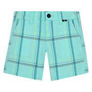 Baby Boy Hurley Plaid Shorts