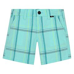 Baby Boy Hurley Plaid Shorts