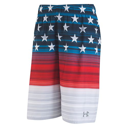 Boys 8-20 Under Armour Americana Striped Volley Shorts