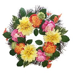 SONOMA Goods for Life™ Artificial Colorful Flower Wreath Wall Decor
