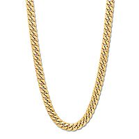 Everlasting Gold 10k Gold Miami Cuban Link Curb Chain Necklace - 22 in