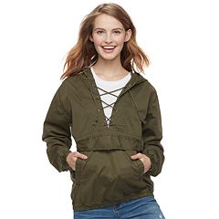 Juniors' SO® Lace-Up Anorak Jacket