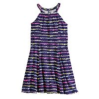 Girls 4-10 Jumping Beans® Pattern Princess Seam Halter Dress