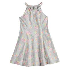 Girls 4-10 Jumping Beans® Pattern Princess Seam Halter Dress