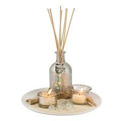 San Miguel 2-Light Coastal Unscented Reed Diffuser Set