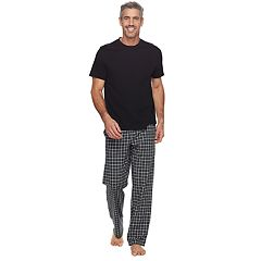 Men's Croft & Barrow® True Comfort Solid Tee & Printed Pants Sleep Set