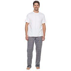 Men's Croft & Barrow® True Comfort Solid Tee & Printed Pants Sleep Set