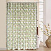 Waverly Pineapple Grove Shower Curtain & Rings