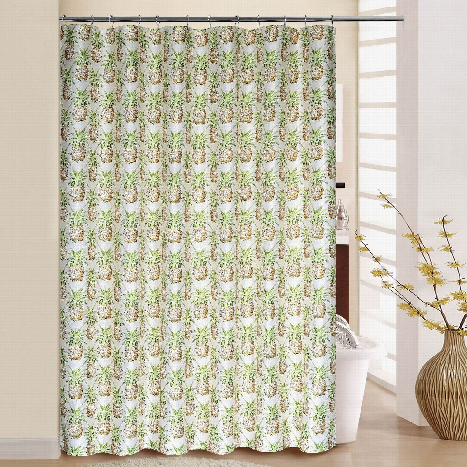 Waverly Pineapple Grove Shower Curtain U0026 Rings