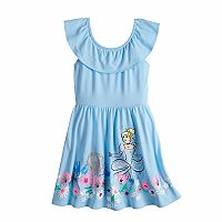 Disney's Cinderella Girls 4-10 Ruffle Skater Dress by Jumping Beans®