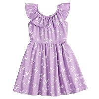 Girls 4-10 Jumping Beans® Ruffled Neck Skater Dress