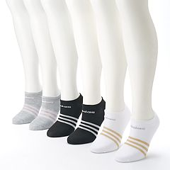 Women's adidas 6 pkSuperlite Striped No-Show Socks