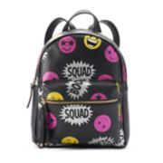 """Squad"" Glittery Emoji Mini Backpack"