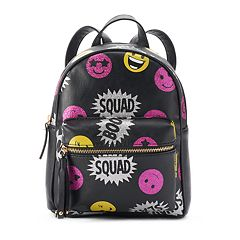 'Squad' Glittery Emoji Mini Backpack