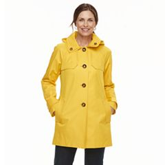 Women's TOWER by London Fog Hooded Double-Collar Jacket