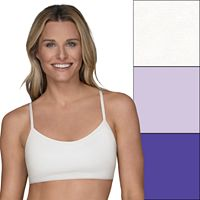 Fruit of the Loom 3-pack Strappy Racerback Sports Bras 3DSCSCT