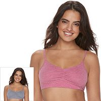 Fruit of the Loom Bras: 2-pack Ultra Soft Crop Top Bra 2DUSCPT