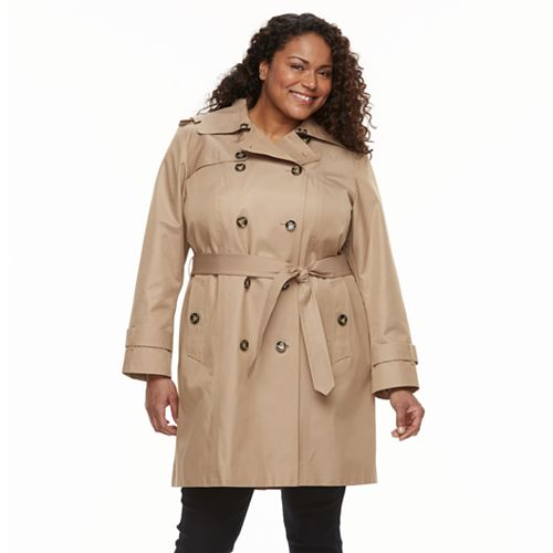 56ece45d593 Women s Weathercast Hooded Bonded Trench Coat. (2). Sale.  131.99. Regular.   220.00. Plus Size TOWER By London Fog ...