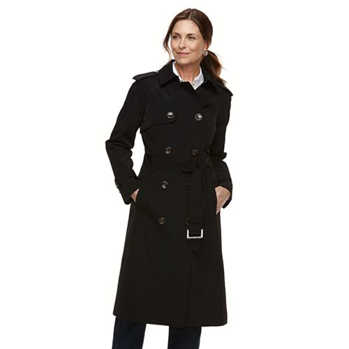 226122991ab0a Women s TOWER by London Fog Double Breasted Trench Coat
